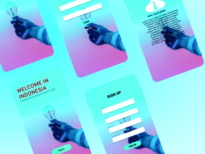 First Project UI Design in Dribbble