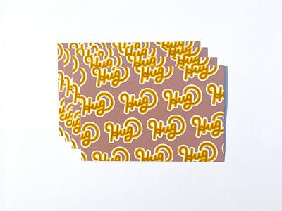 Hugs design handlettering vector illustration graphic design fall postcard lettering typography pattern covid hug
