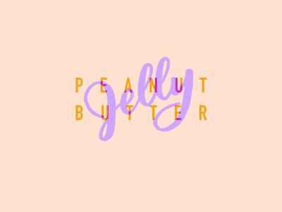 PB & J logo transparent graphic design illustration food jelly peanut butter typography handlettering