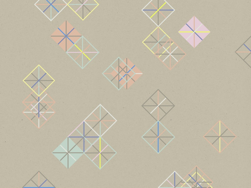 Sugar Diamonds shapes pattern kraft pink geometric design texture graphic vector graphic design illustration