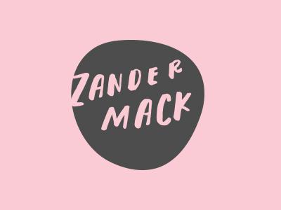 ZanderMack pink handdone branding typography handlettering type vector logo