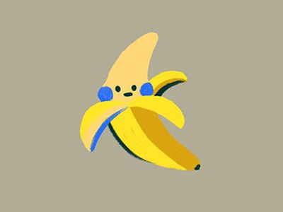 Banana food graphic design texture color yellow graphic character cute illustration icon fruit banana