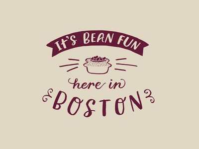 Bean Fun hand lettering icon illustration typography logo hipster badge badge lettering