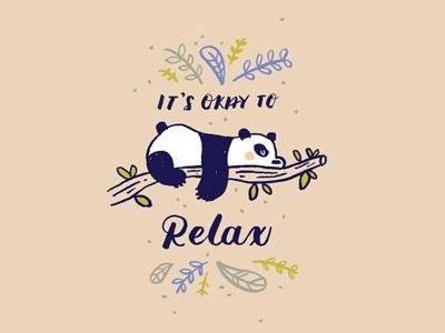 Panda print animal handlettering casual typography lettering color doodle illustration cute panda