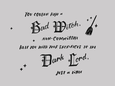 Bad Witch lettering handtype illustration lyrics gothic handlettering typography halloween witch shop parody lizzo