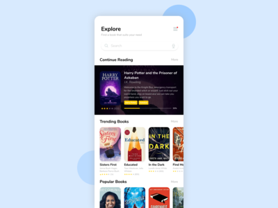 Reading App - Explore Screen