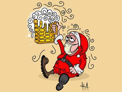 happy new year 2021 vectorart vector illustration illustration art illustrations happynewyear santa cartoonist cartoon digitalart digital illustration cartoon illustration illustration