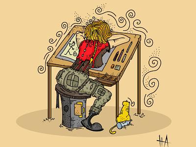 laborer illustrations drawing vector illustration vectorart cartoon character digital illustration cartoon illustration illustration art illustration
