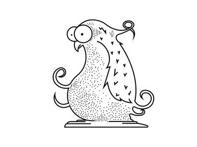 Confused bird illustration