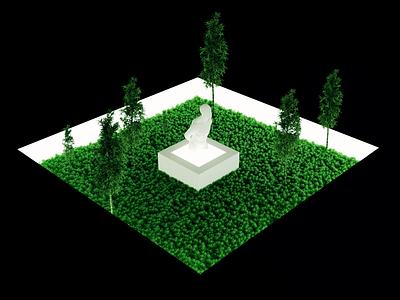 Wandering composition rendering blender 3d art