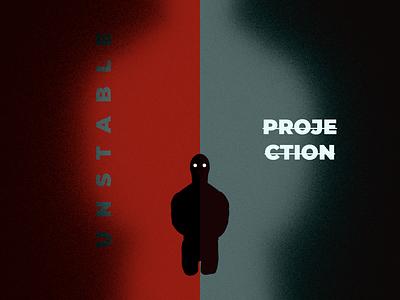 Unstable Projection typography design illustration rendering composition blender 3d art