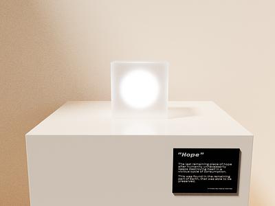 Hope typography 3d design rendering composition 3d art blender