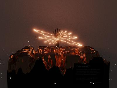 Greed render 3d design rendering composition 3d art blender