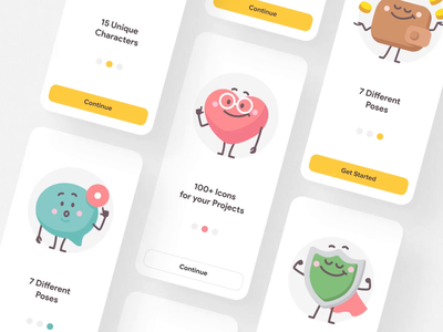 Tinies I playful funny icon sketch figma ui vector illustration