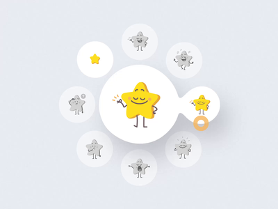 Tinies lll ui8 motion animation 2d star emoji character web tiny icon sketch figma illustration vector