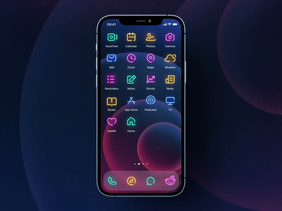iOS 14 Icons and Widget Pack ui8 iphone iconpack ios14 ios icon sketch figma illustration vector