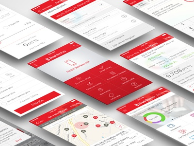 ZiraatBank iOS Project ziraat bank ios iphone 5 red banking payment mbanking icons