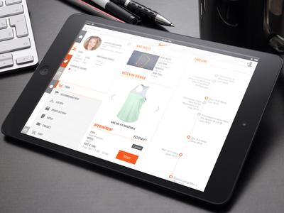 Nike Associate App flat application app ipad platform associate nike