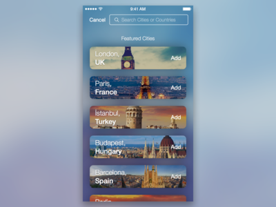 Search + Featured Cities countries travel soft smooth cities city bar search featured
