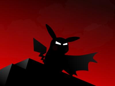 Weekly Challenge 4 - Superhero go cape night dark funny anime comics cartoon pikachu batman pokemon