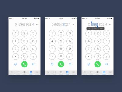 Weekly Challenge 7 - Famous App Redesign (iOS Keypad) interaction ux tweak enhanced iphone phone call keypad ios