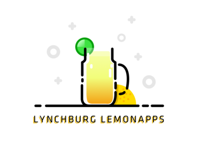Lynchburg Lemonapps cocktail drink orange lemon fun colourful logo vector lemonapps lemonade lynchburg