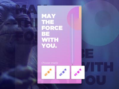 Yoda is that you? typography gradient lightsaber saber light wars star star wars yoda