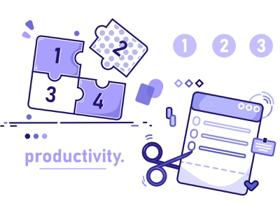 Productivity block better minimal design thinking inspiration business work illustration flat productivity