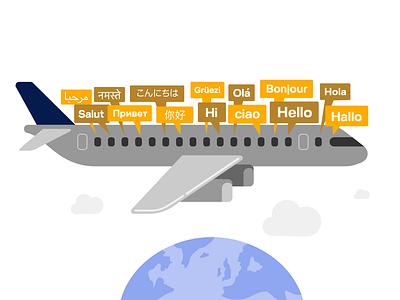 International Mother Language Day Illustration graphic illustrator diversity earth lufthansa languages visual design iconography illustrations