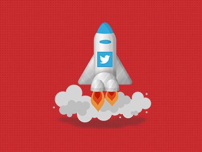 Tweet Rocket pankdesigns pankaj design smoke icon pank.in pank rocket tweet tweeter flat