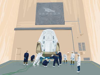 SpaceX Dragon 🚀 elonmusk spaceship spacex procreate art procreate app procreateapp procreate pankaj juvekar ipadproart ipad pro ipadpro illustrator illustrations illustration art illustration