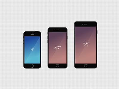 iPhone 5S 6 6Plus iphone5s iphone6 iphone6plus apple flat design mockup