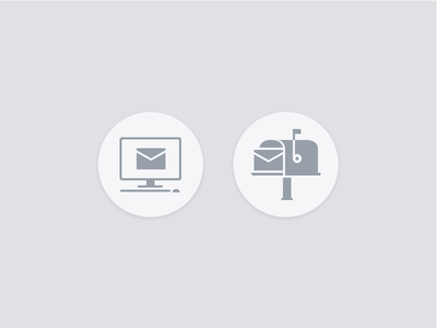 Email Vs Postmail contact flat design icons mailbox letterbox post mail email