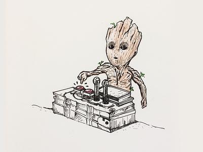 I am Groot 🌱 babygroot illustration iamgroot guardiansofgalaxy groot