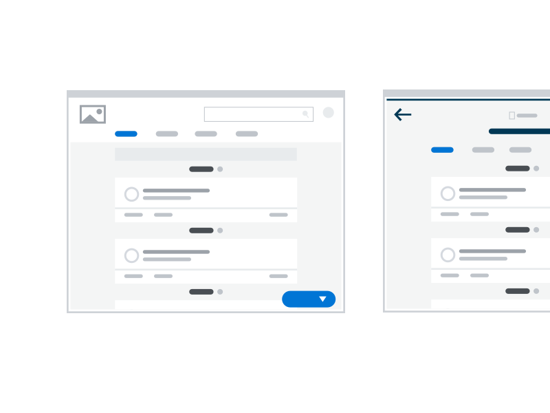 Various Screens wireframe ux ui screen types design system