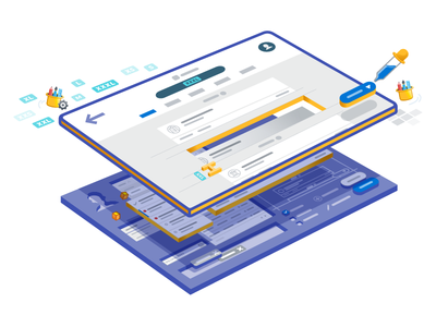 Appway Design System components modules iconography icons style business objects illustrative isometric design system
