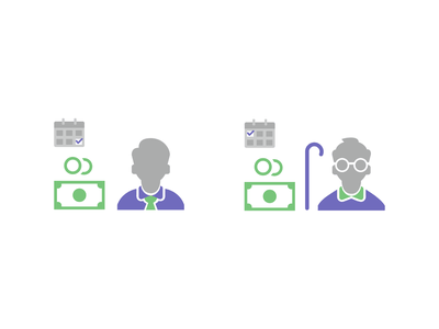 Icons for Salary & Pension icon design iconography icons banking pension salary