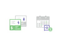 Icons for Utility Bills and Monthly Instalments