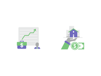 Icons for Client Portfolio & Real Estate Financing