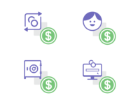 Icons for various Bank Accounts