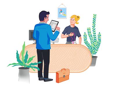 Digital Reception App Illustration visual design illustration app reception digital