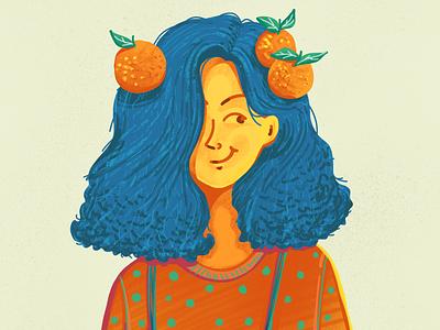 DrawThisInYourStyle girl oranges clementine drawthisinyourstyle