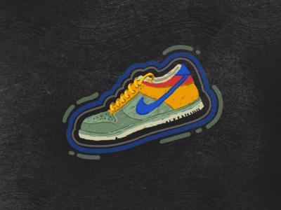 Shoe Illustration - 2 shoe procreate nike illustration design