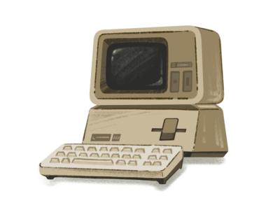 Apple III computer 80s illustration procreate ipad pro apple