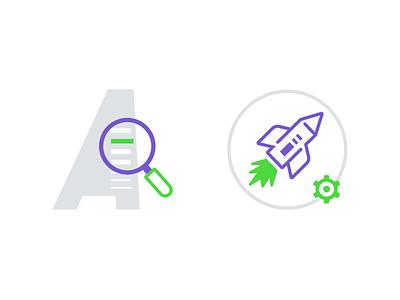 Appway Entity Search rocket icon design iconography icon product search entity appway