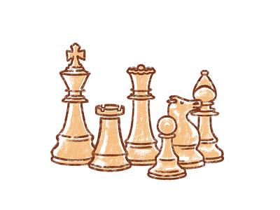Team Composition ipadpro procreate teamwork chess composition team illustration