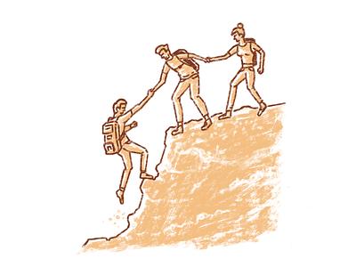 Team Trust ipadpro procreate illustration trust team
