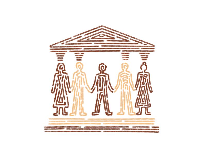 Team & Individual Identity illustration ipadpro procreate identity team
