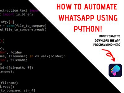 How to Automate WhatsApp With 15 lines of Python Code muntasir mahdi python script python hacking python code python automation python hacks python