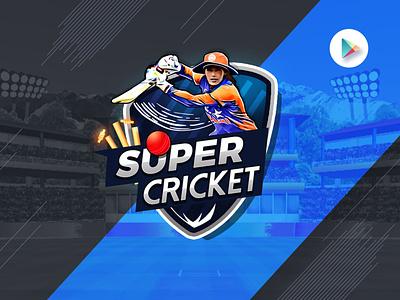 super cricket app ui  ux cricket play store 2020 trend game app superstar app design game design cricket logo cricket app